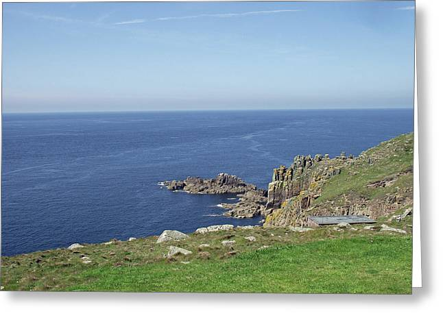 Rocky Coastline At Land's End Greeting Card