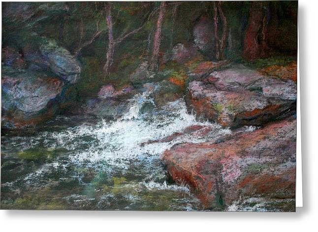 Rapids Pastels Greeting Cards - Rocky Creek I Greeting Card by Estelle Schwarz