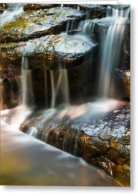 Rocky Falls Greeting Card by Shelby  Young