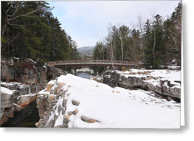 Rocky Gorge, Winter  Greeting Card