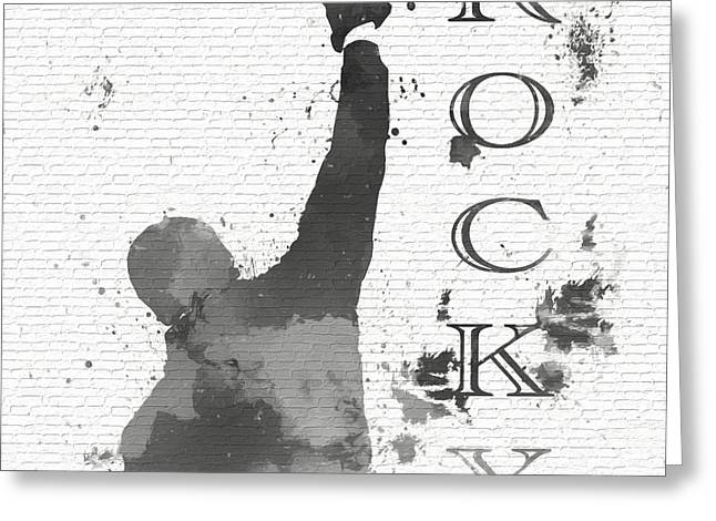 Rocky Graffiti Brick Wall Greeting Card