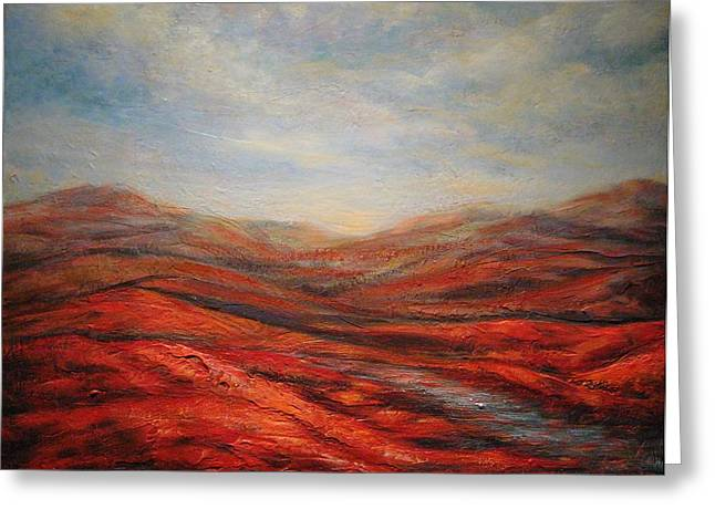Rocky Hills Greeting Card by Mirjana Gotovac