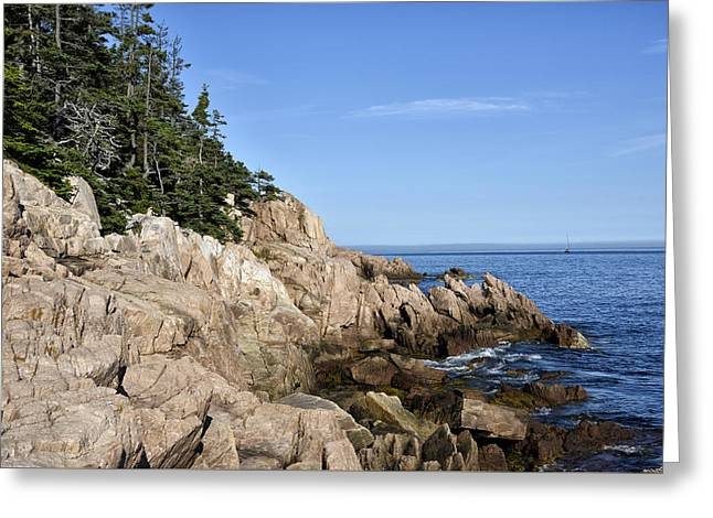 Rocky Maine Coast Greeting Card by Brendan Reals