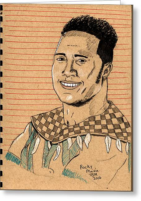 Rocky Maivia Greeting Card