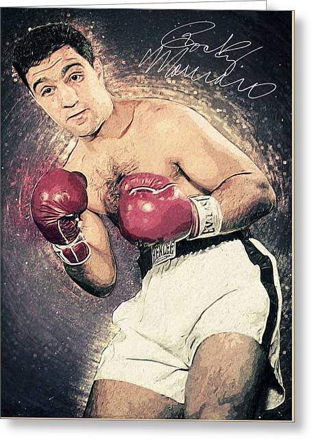 Rocky Marciano Greeting Card by Taylan Apukovska