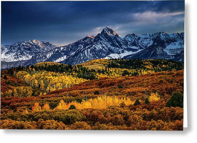 Greeting Card featuring the photograph Rocky Mountain Autumn by Andrew Soundarajan