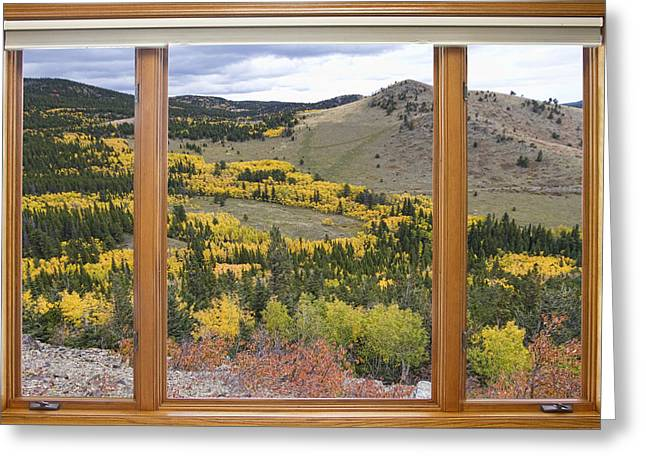 Rocky Mountain Autumn Picture Window View Greeting Card by James BO  Insogna