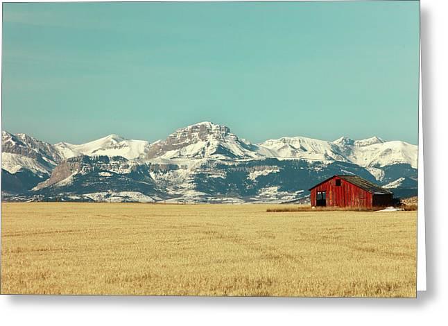 Rocky Mountain Barn Greeting Card