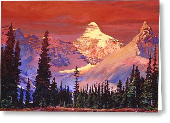 Mountain Colors Greeting Card by David Lloyd Glover