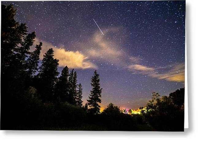 Rocky Mountain Falling Star Greeting Card