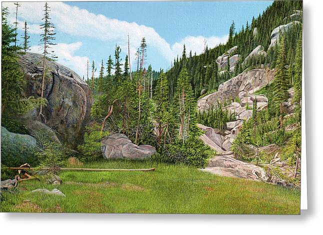 Rocky Mountain Forest Greeting Card