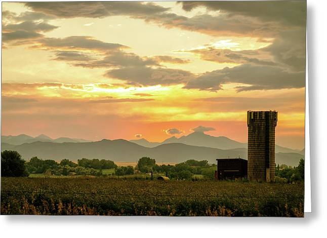 Greeting Card featuring the photograph Rocky Mountain Front Range Country Landscape by James BO Insogna