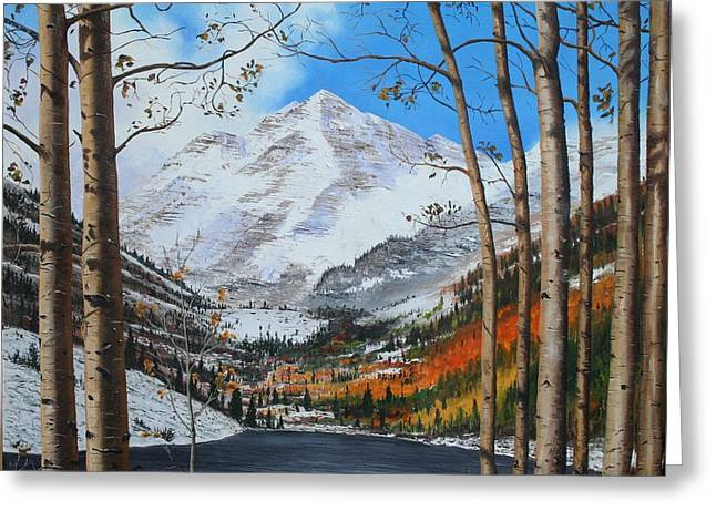 Mike Ivey Greeting Cards - Rocky Mountain High Greeting Card by Mike Ivey