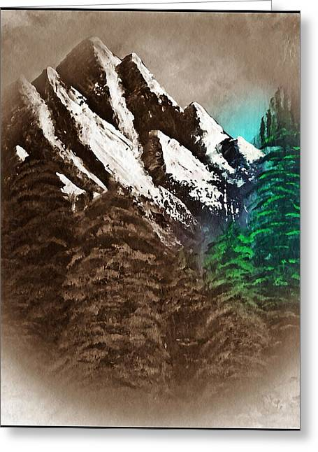 Rocky Mountain High Number Nine Greeting Card by Scott Haley