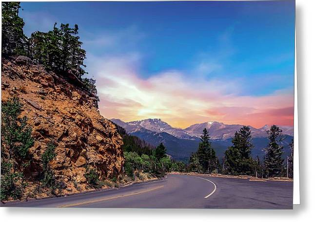 Rocky Mountain High Road Greeting Card