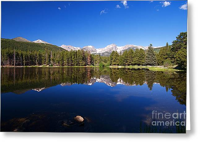 Rocky Mountain Lake In A Colorado National Park Greeting Card