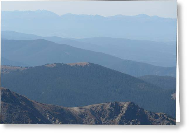 Rocky Mountain Layers In Colorado Greeting Card