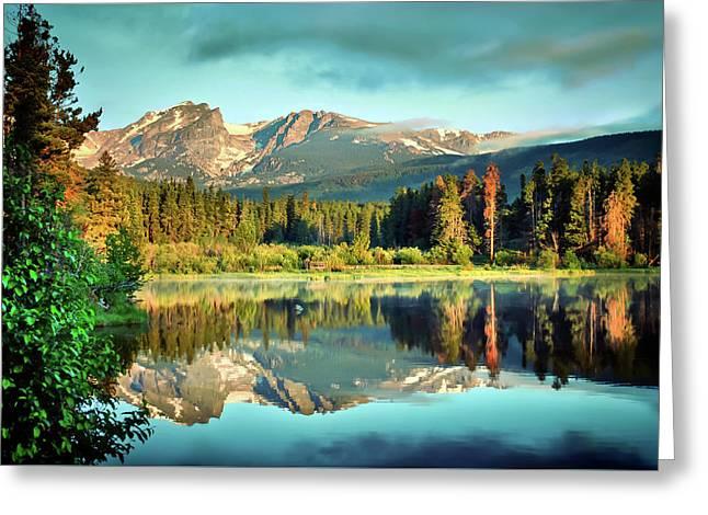Rocky Mountain Morning - Estes Park Colorado Greeting Card