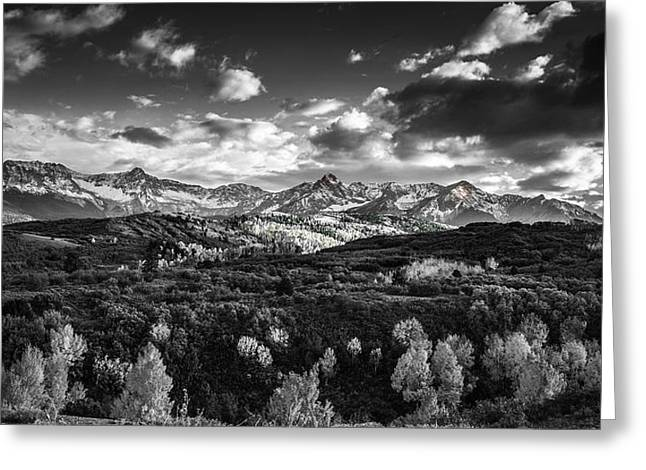 Greeting Card featuring the photograph Rocky Mountain Panorama by Andrew Soundarajan