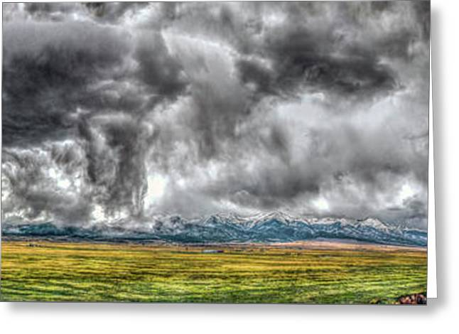 Rocky Mountain Panorama Hdr Greeting Card