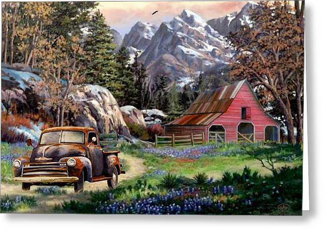 Rocky Mountain Ranch Greeting Card