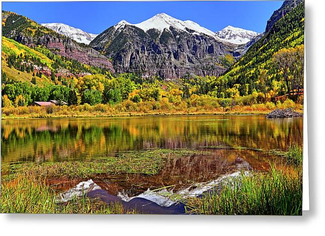 Rocky Mountain Reflections - Telluride - Colorado Greeting Card by Jason Politte