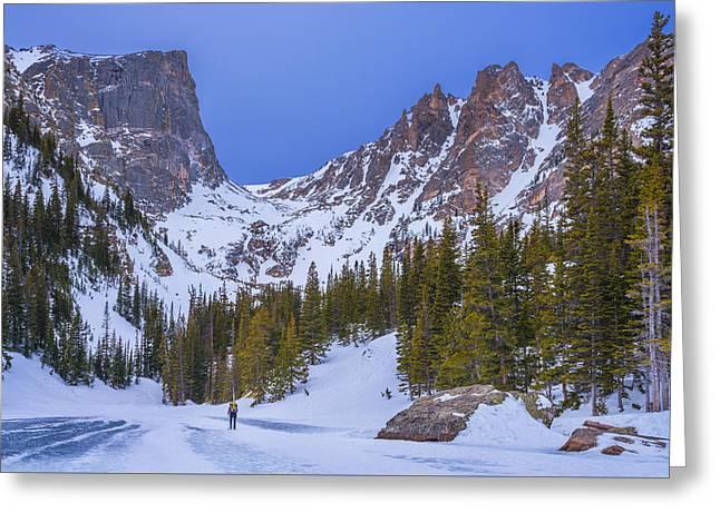 Rocky Mountain Snowshoer Greeting Card by Darren White