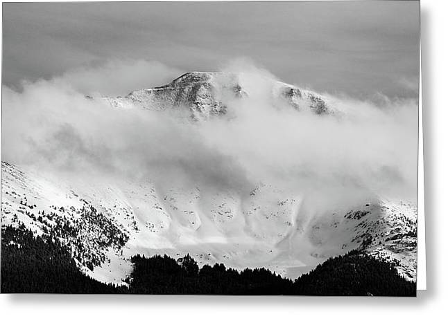 Rocky Mountain Snowy Peak Greeting Card
