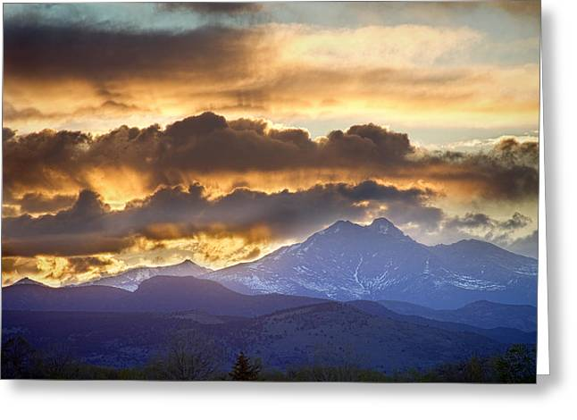 Meeker Greeting Cards - Rocky Mountain Springtime Sunset 3 Greeting Card by James BO  Insogna