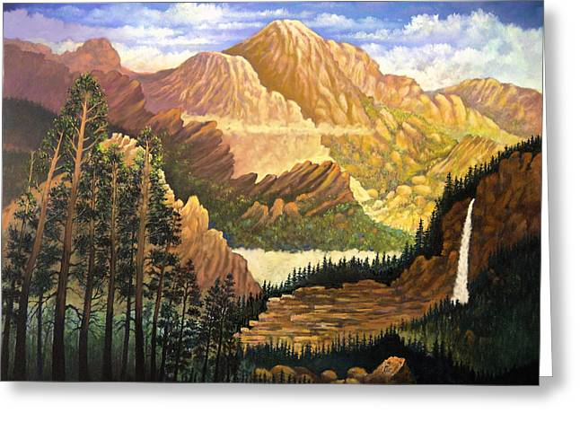 Rocky Mountain Sunrise Greeting Card by Donn Kay