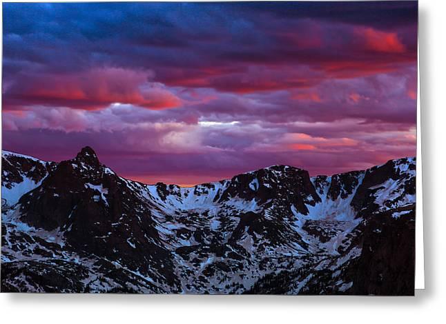 Rocky Mountain Sunset Greeting Card