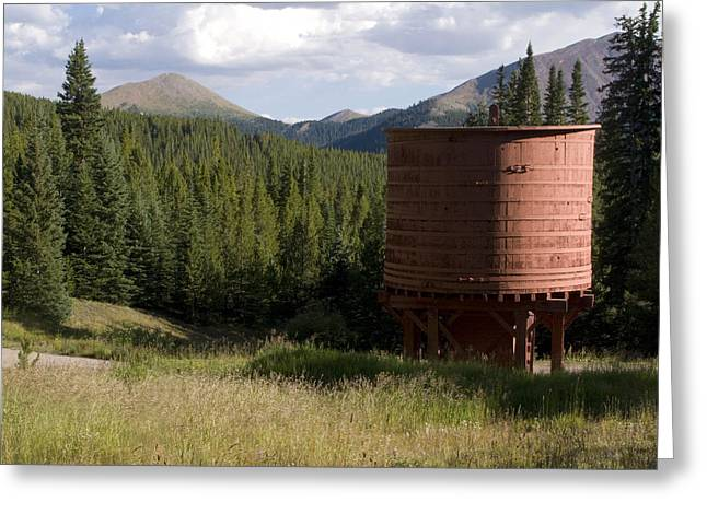 Rocky Mountain Water Tower Greeting Card by Jeffery Ball