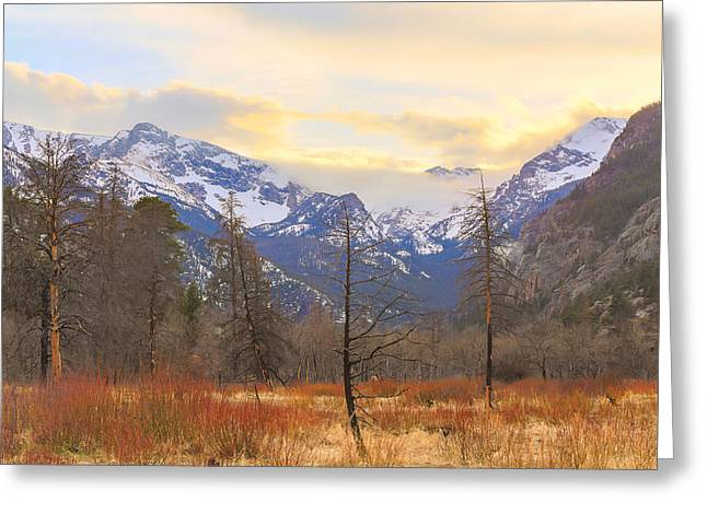 Rocky Mountain Wilderness Sunset View Greeting Card