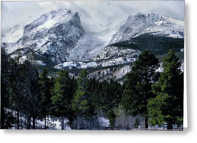 Rocky Mountain Winter Greeting Card by Jim Hill