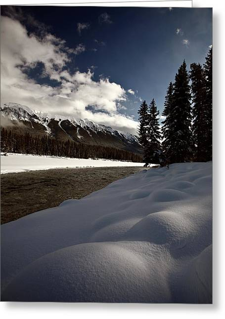 Rocky Mountain Winter Greeting Card by Mark Duffy