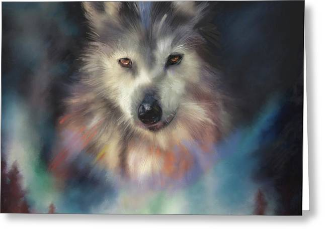 Rocky Mountain Wolf Series Greeting Card