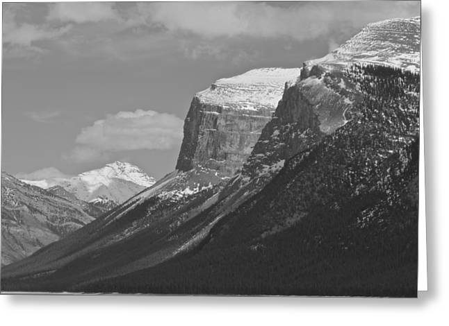 Greeting Card featuring the photograph Rocky Mountains - B/w by Josef Pittner