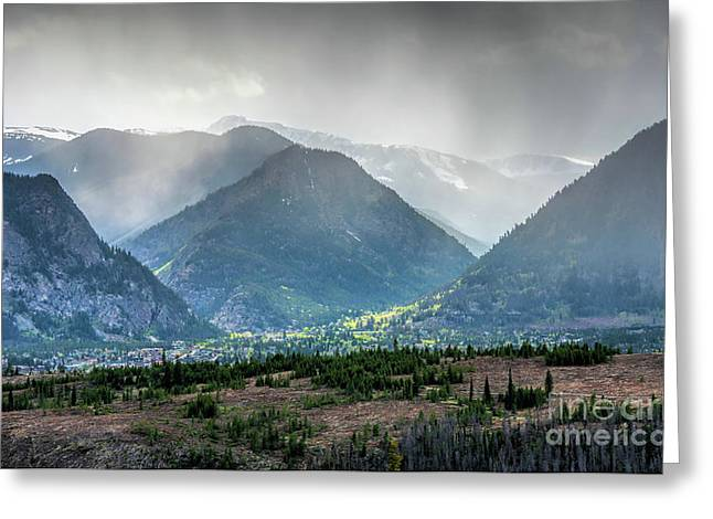 Rocky Mountains, Early Summer Rain Greeting Card