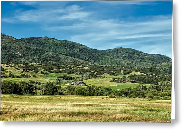 Rocky Mountains Meadow Greeting Card by Mountain Dreams