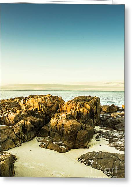 Rocky Oceanscape Greeting Card