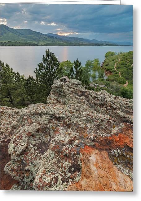 Rocky Overlook At Horsetooth Reservoir Greeting Card by Matt Thalman