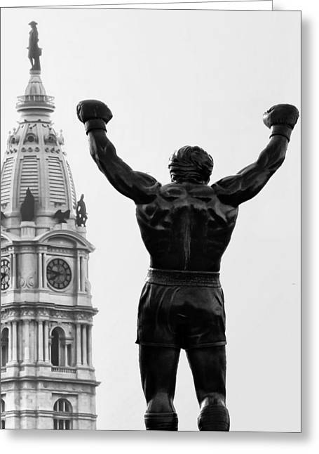 Rocky - Philly's Champ Greeting Card by Bill Cannon