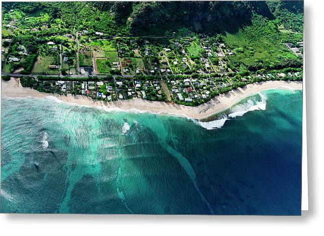 Rocky Point Overview. Greeting Card by Sean Davey