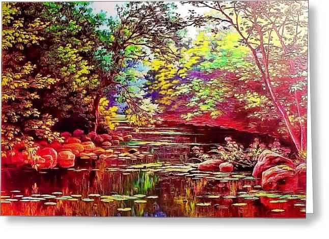 Rocky Rainbow River Greeting Card