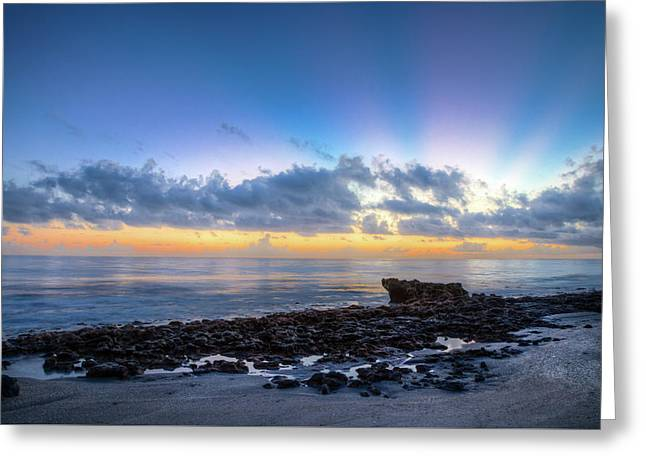 Greeting Card featuring the photograph Rocky Reef At Low Tide by Debra and Dave Vanderlaan