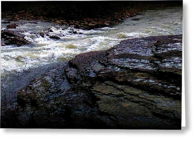 Rocky River Greeting Card by Lesli Sherwin