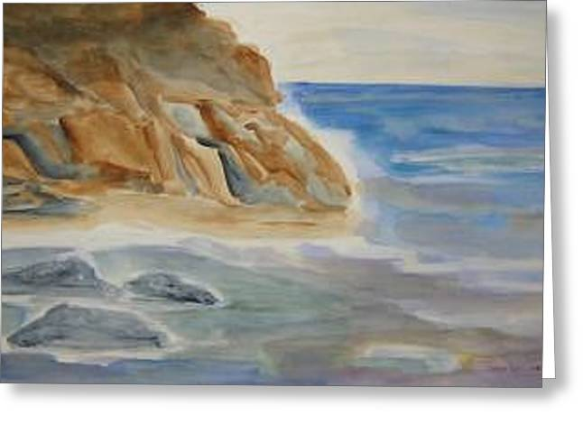 Rocky Shore Greeting Card by Joan Wallace Reeves