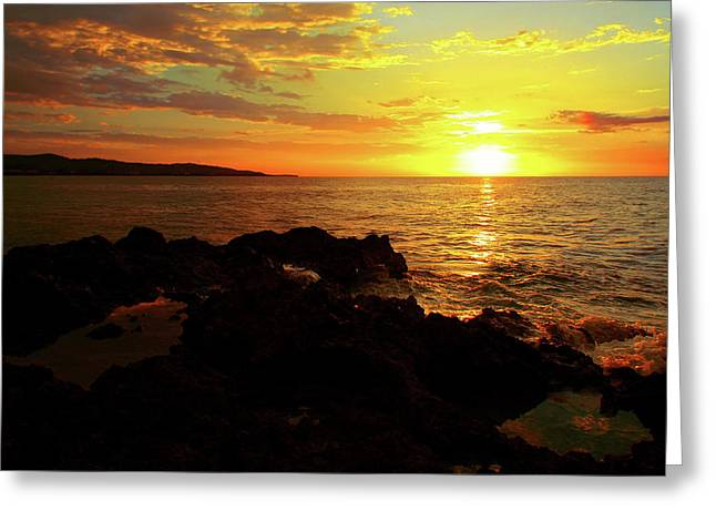 Rocky Shore Greeting Card by Kamil Swiatek