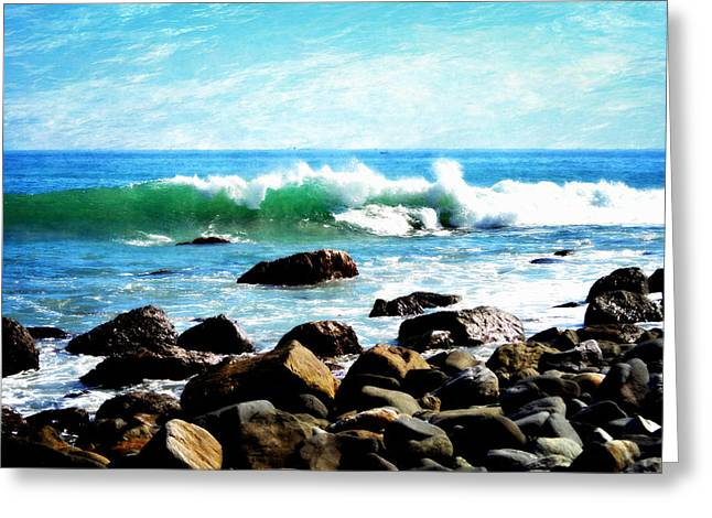 Rocky Shoreline - Dana Point Greeting Card