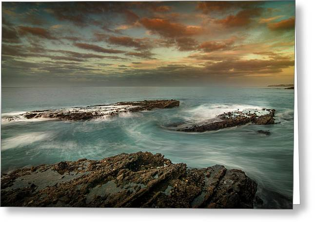 Rocky Shores At Victoria Beach Greeting Card by Ralph Vazquez